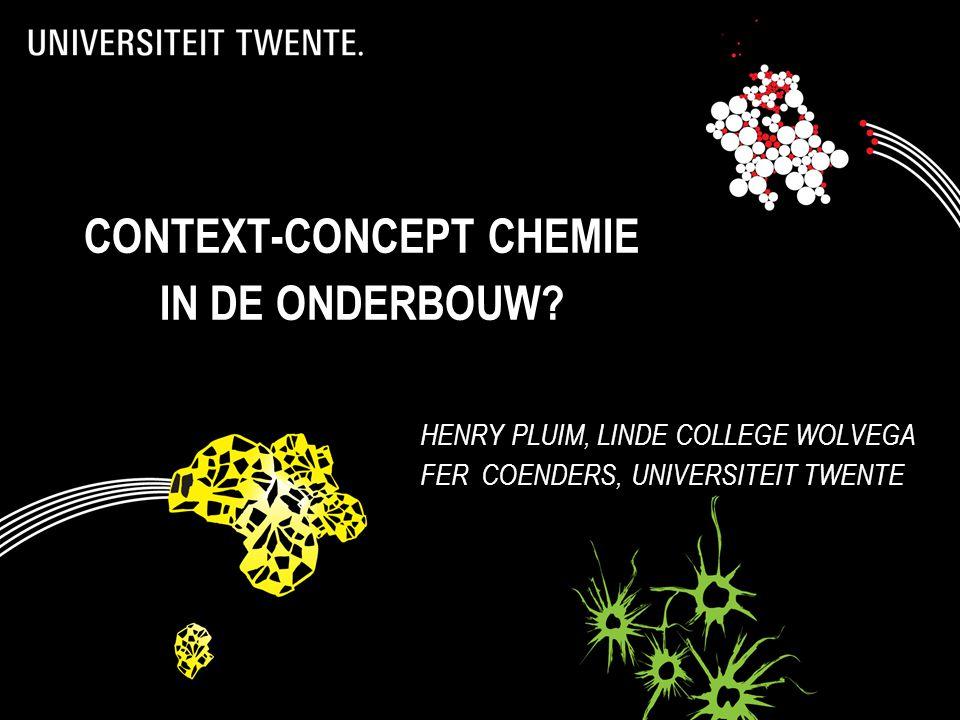 context-concept chemie in de onderbouw