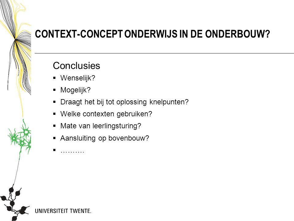 Context-concept onderwijs in de onderbouw