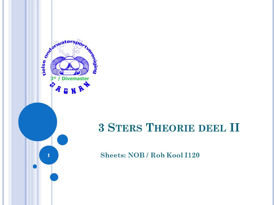 3 Sters Theorie deel II Sheets: NOB / Rob Kool I120