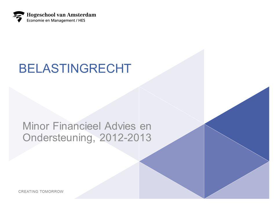 Minor Financieel Advies en Ondersteuning, 2012-2013