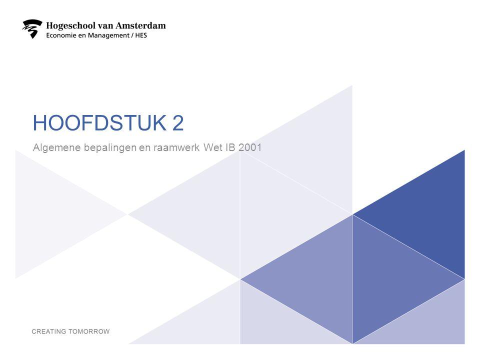 Algemene bepalingen en raamwerk Wet IB 2001