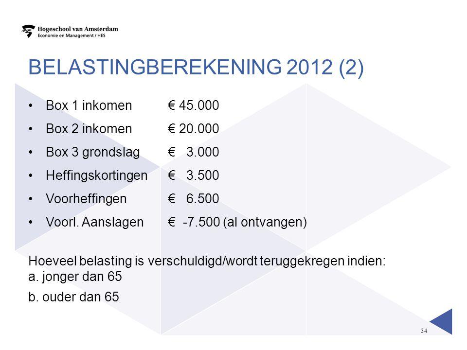 Belastingberekening 2012 (2)