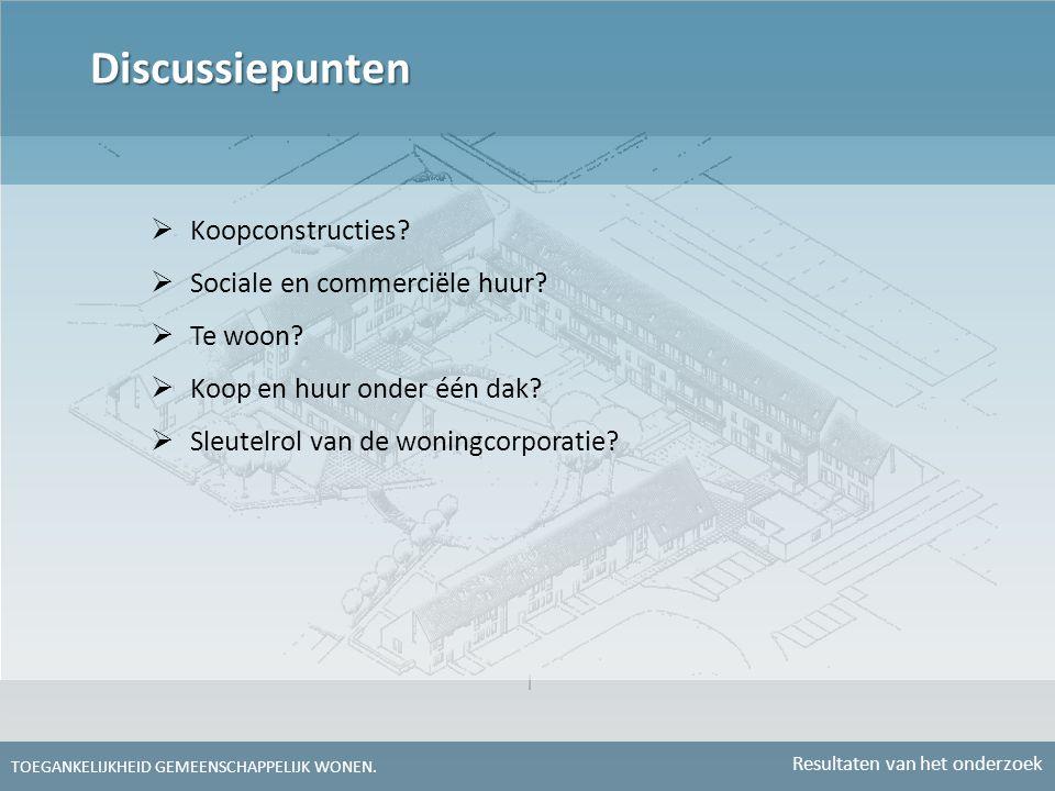 Discussiepunten Koopconstructies Sociale en commerciële huur