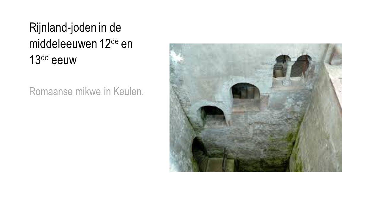 Rijnland-joden in de middeleeuwen 12de en 13de eeuw