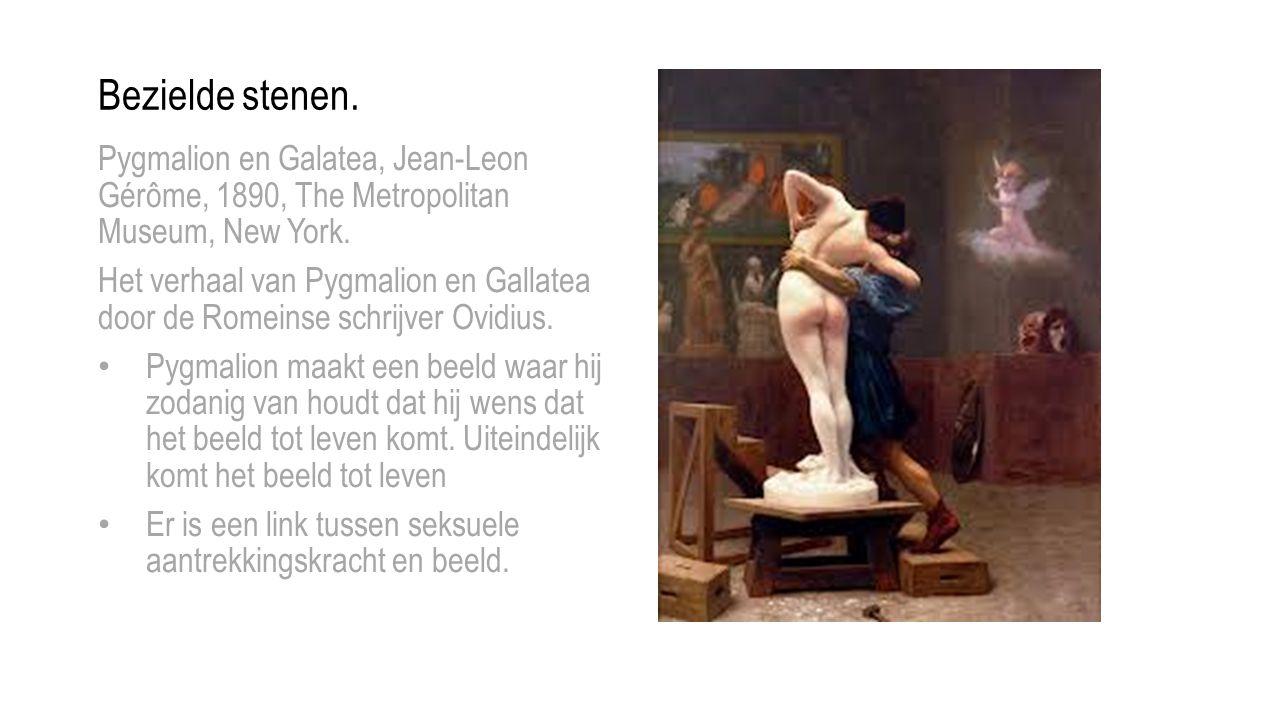 Bezielde stenen. Pygmalion en Galatea, Jean-Leon Gérôme, 1890, The Metropolitan Museum, New York.