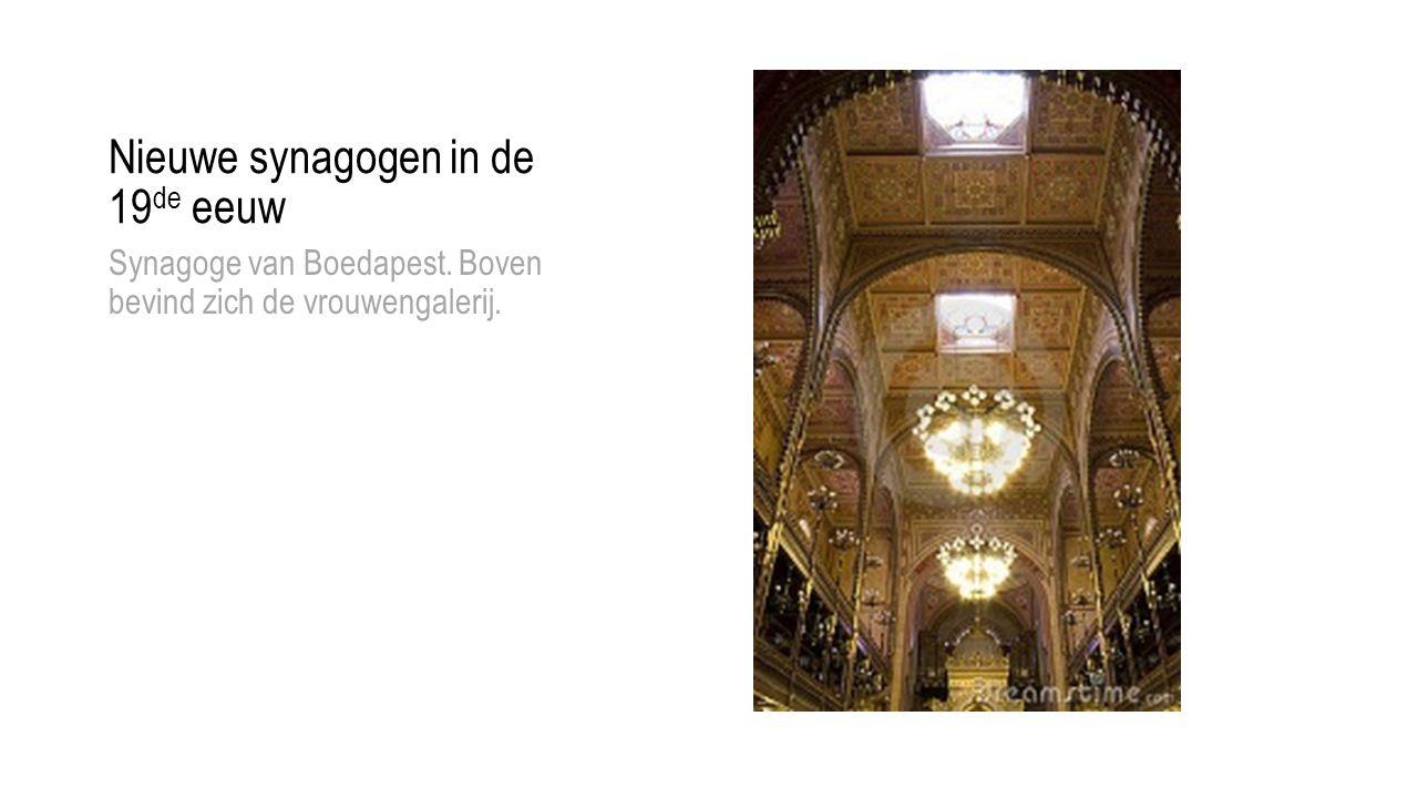 Nieuwe synagogen in de 19de eeuw