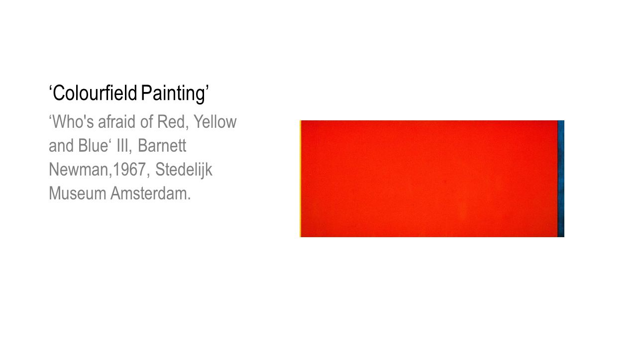 'Colourfield Painting'