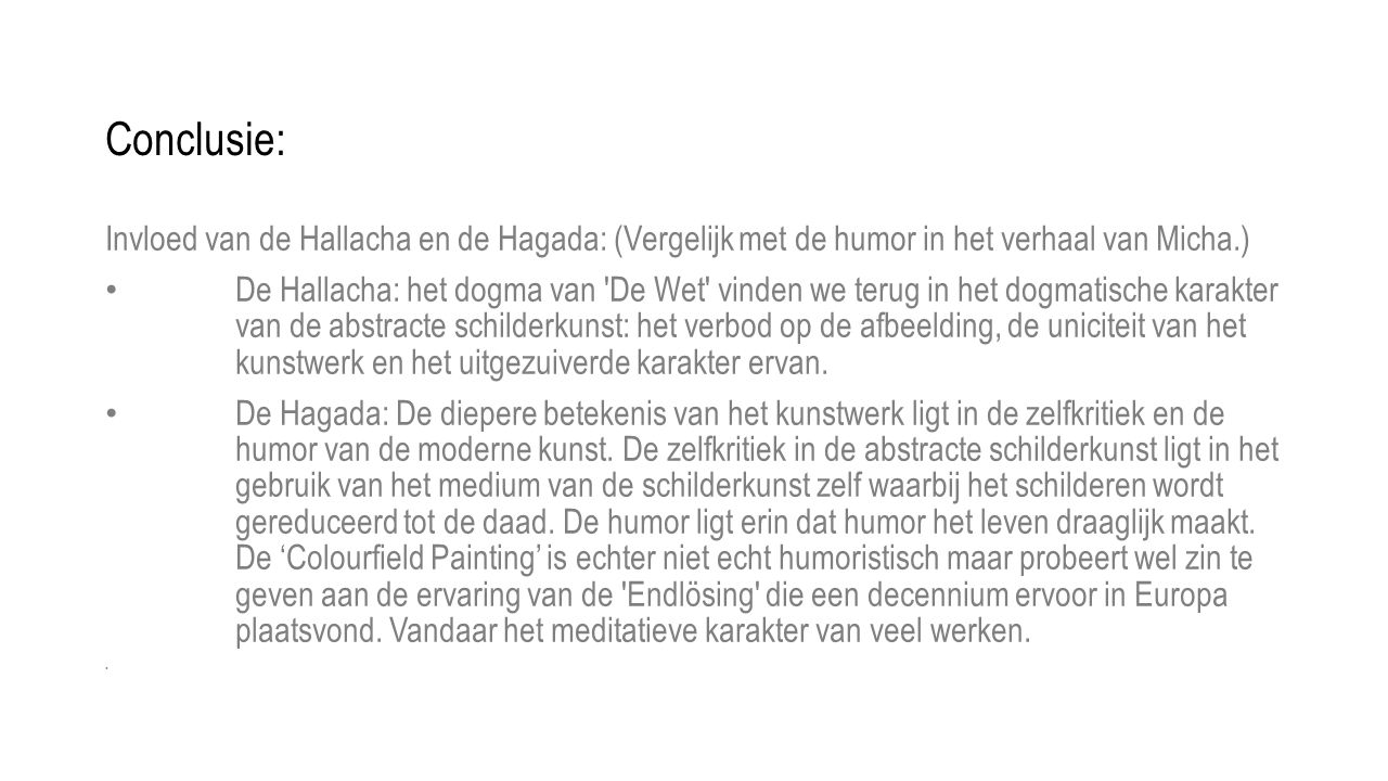 Conclusie: Invloed van de Hallacha en de Hagada: (Vergelijk met de humor in het verhaal van Micha.)