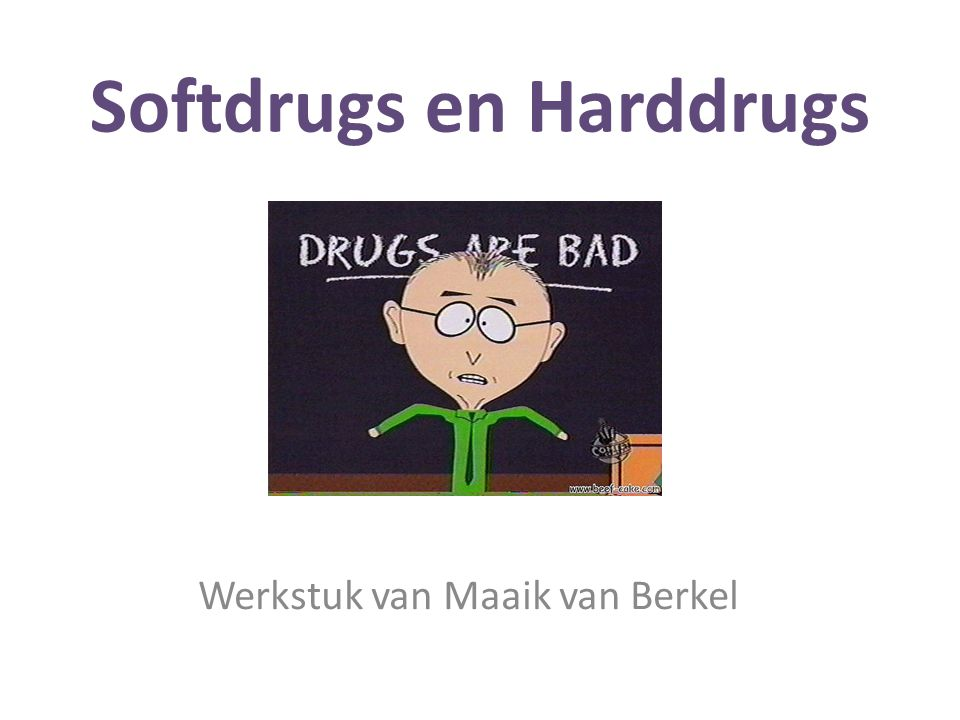 Softdrugs en Harddrugs