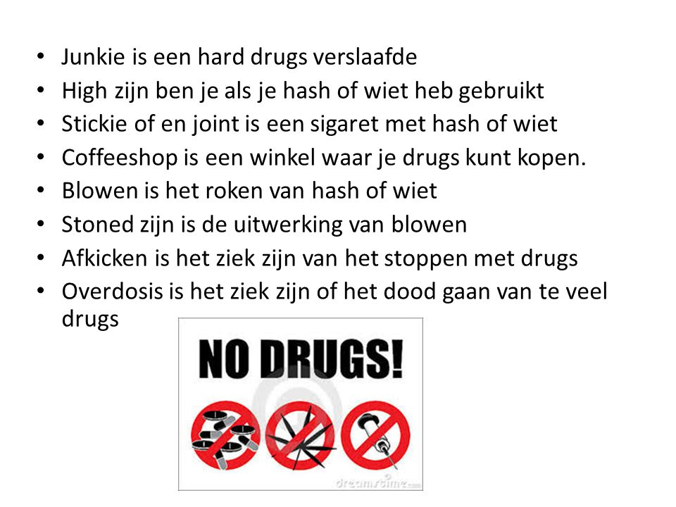 Junkie is een hard drugs verslaafde