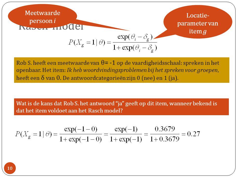 Locatie-parameter van item g