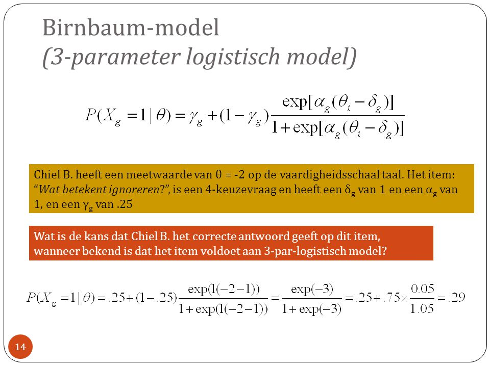 Birnbaum-model (3-parameter logistisch model)