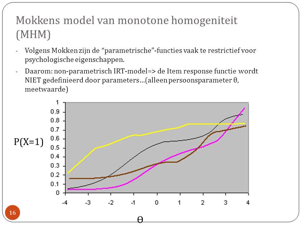 Mokkens model van monotone homogeniteit (MHM)