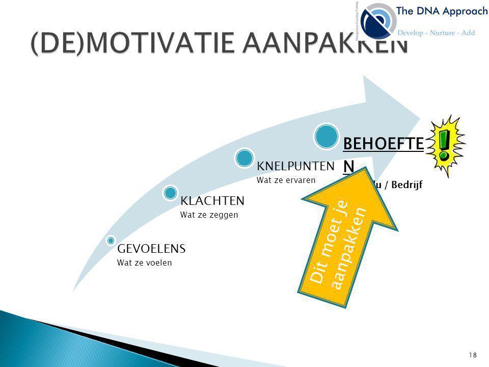 (DE)MOTIVATIE AANPAKKEN