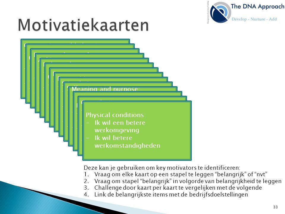 Motivatiekaarten Connection and belonging: