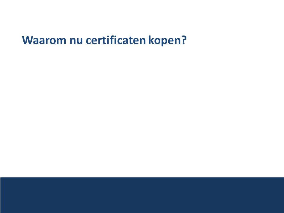 Waarom nu certificaten kopen