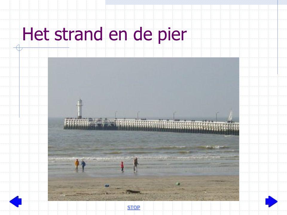 Het strand en de pier STOP