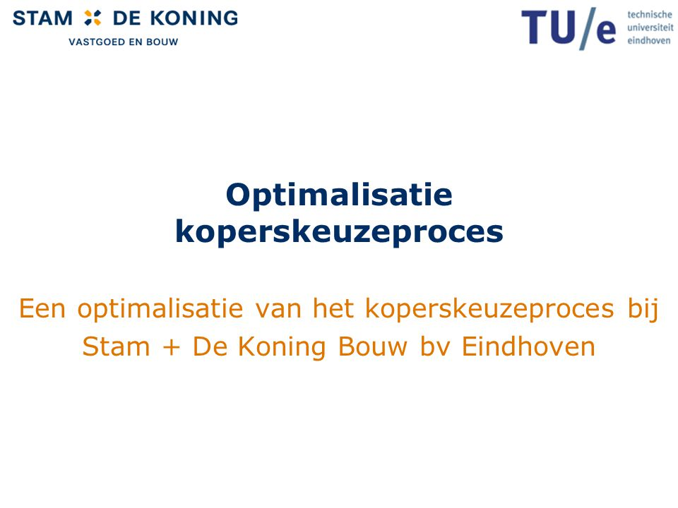 Optimalisatie koperskeuzeproces