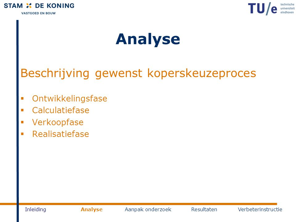Analyse Beschrijving gewenst koperskeuzeproces Ontwikkelingsfase