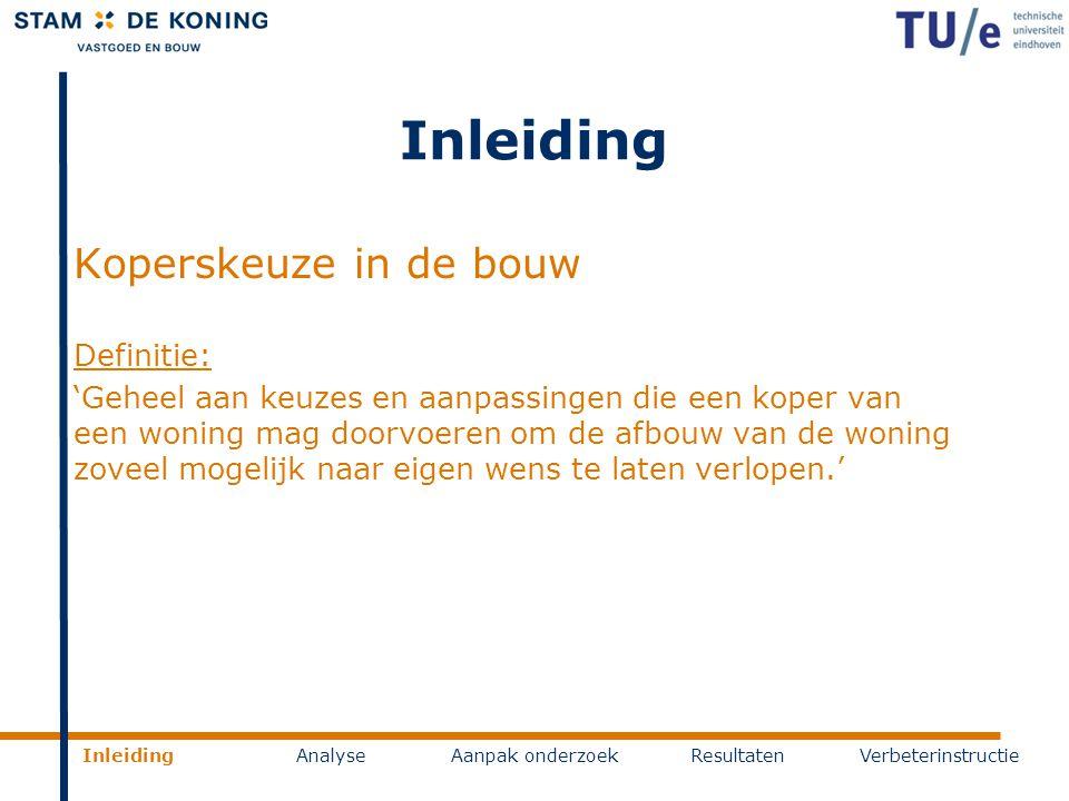 Inleiding Koperskeuze in de bouw Definitie: