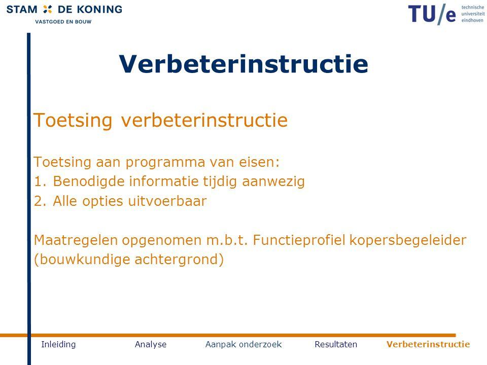 Verbeterinstructie Toetsing verbeterinstructie