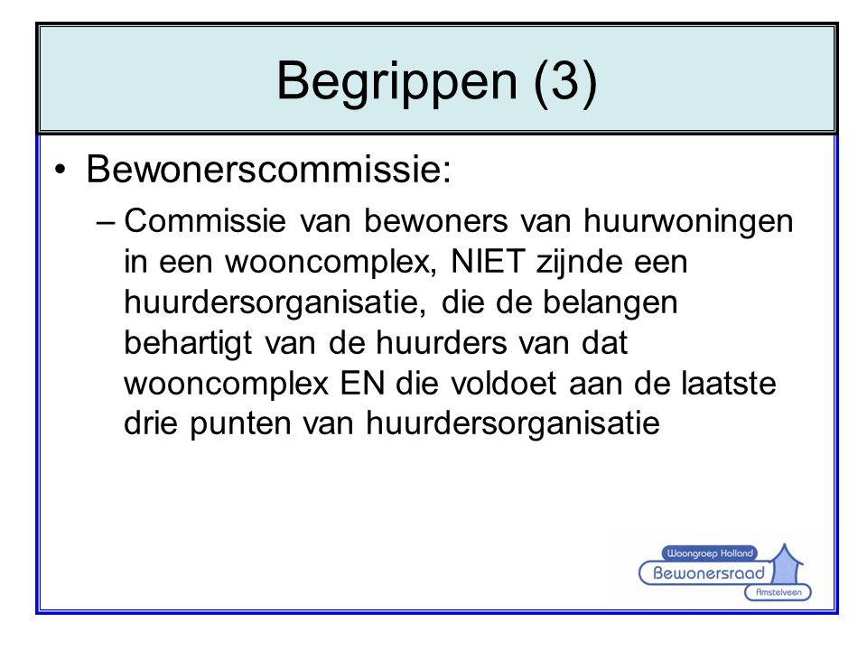 Begrippen (3) Bewonerscommissie:
