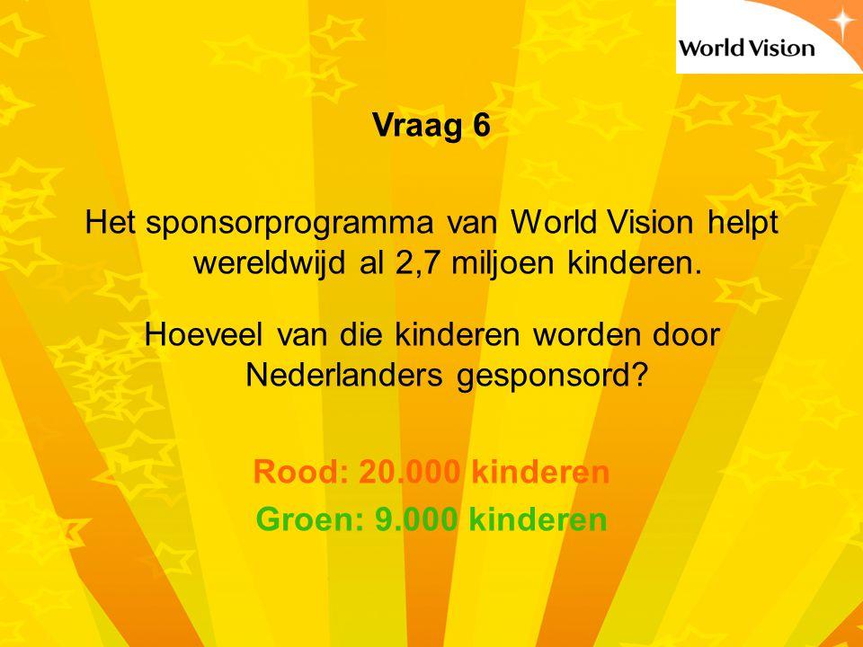 Hoeveel van die kinderen worden door Nederlanders gesponsord