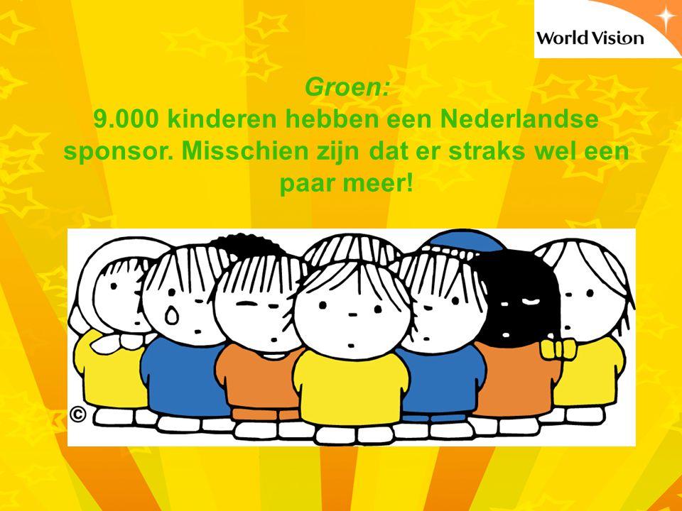 Groen: 9.000 kinderen hebben een Nederlandse sponsor.