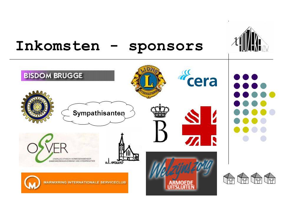 Inkomsten - sponsors Sympathisanten