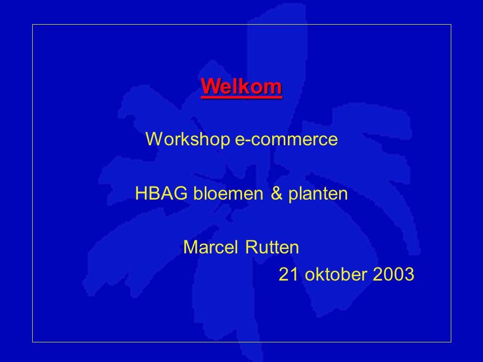 Welkom Workshop e-commerce HBAG bloemen & planten Marcel Rutten