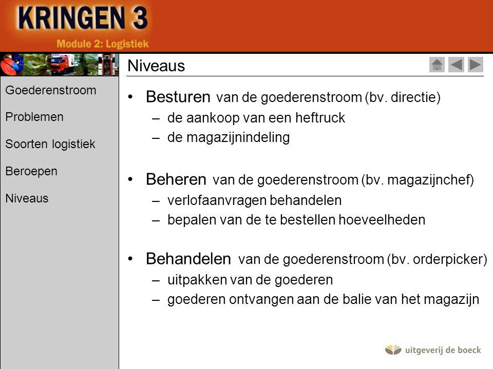 Besturen van de goederenstroom (bv. directie)