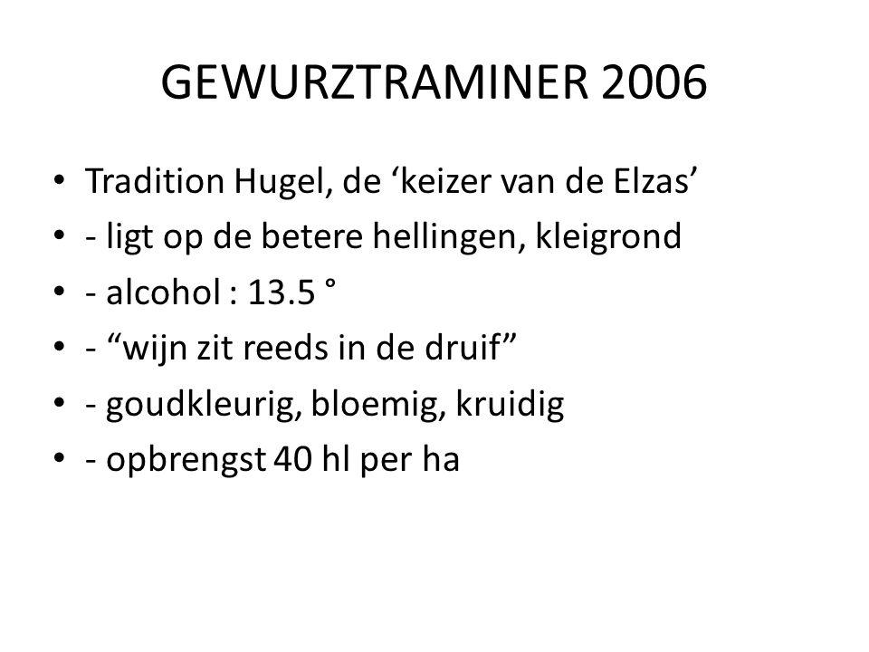 GEWURZTRAMINER 2006 Tradition Hugel, de 'keizer van de Elzas'