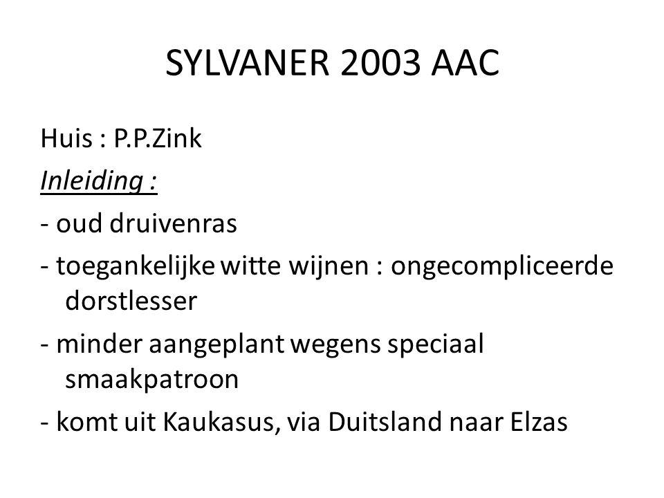 SYLVANER 2003 AAC
