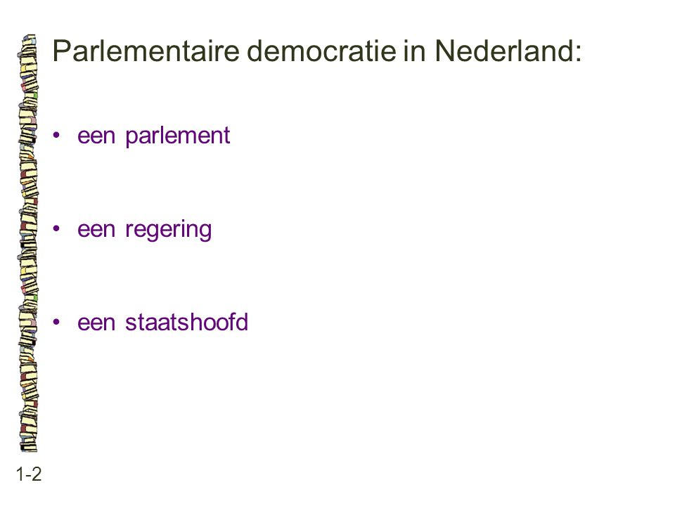 Parlementaire democratie in Nederland: