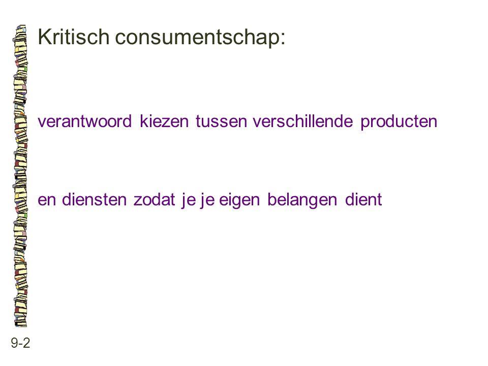 Kritisch consumentschap: