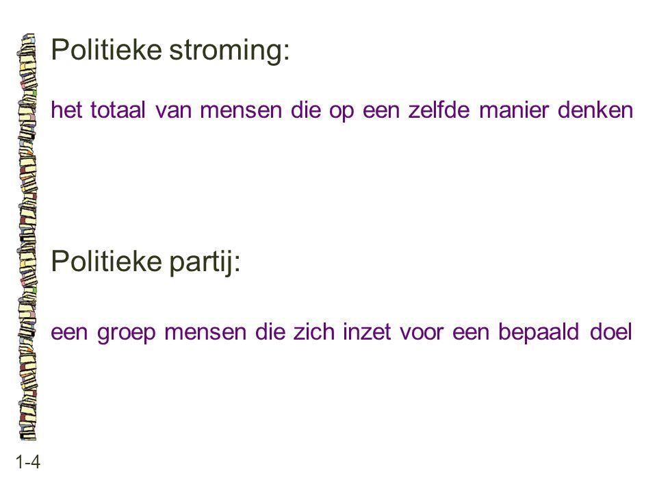 Politieke stroming: Politieke partij: