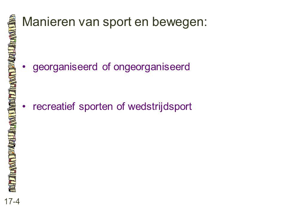 Manieren van sport en bewegen: