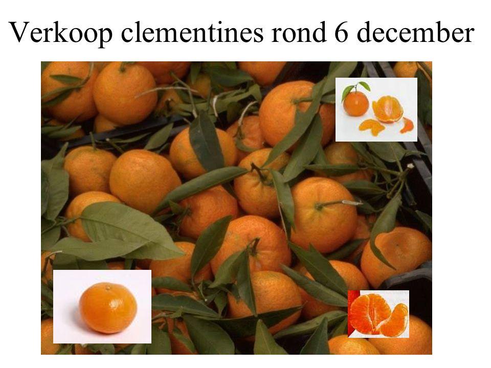 Verkoop clementines rond 6 december