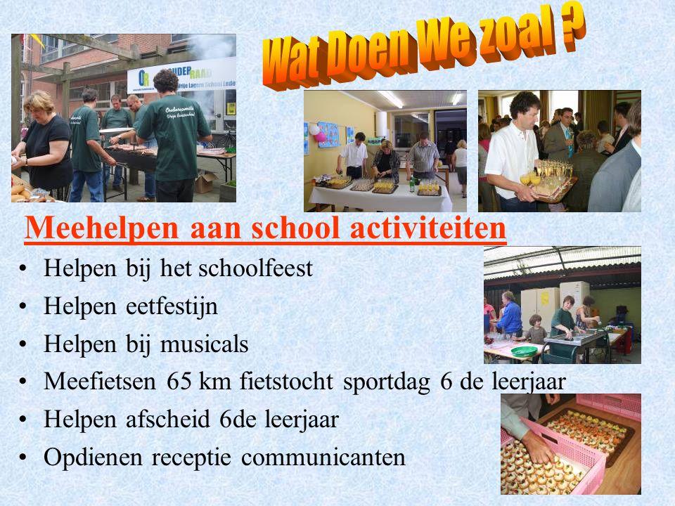 Meehelpen aan school activiteiten