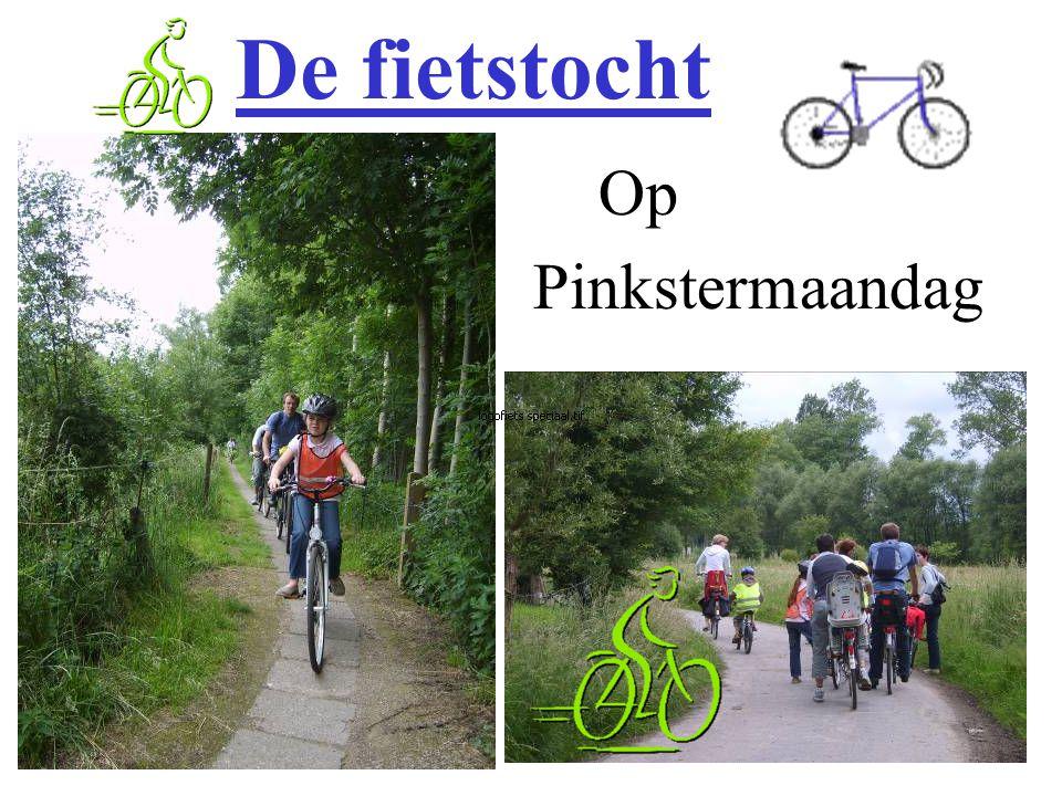 De fietstocht Op Pinkstermaandag