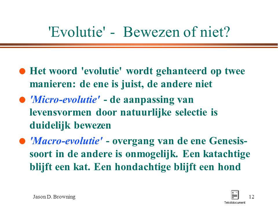 Evolutie - Bewezen of niet