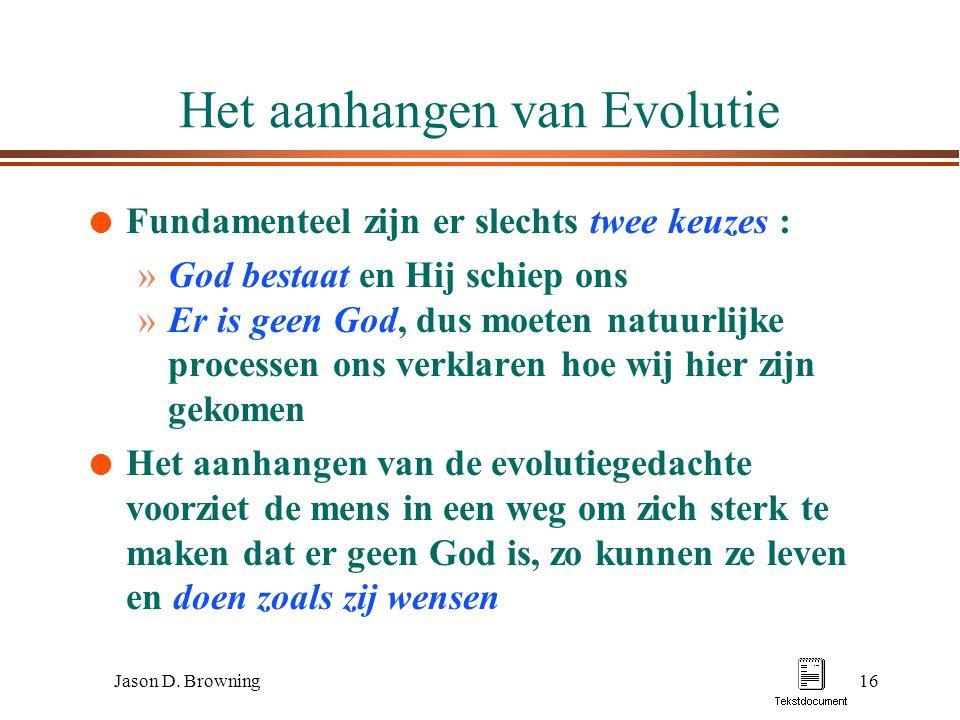 Het aanhangen van Evolutie