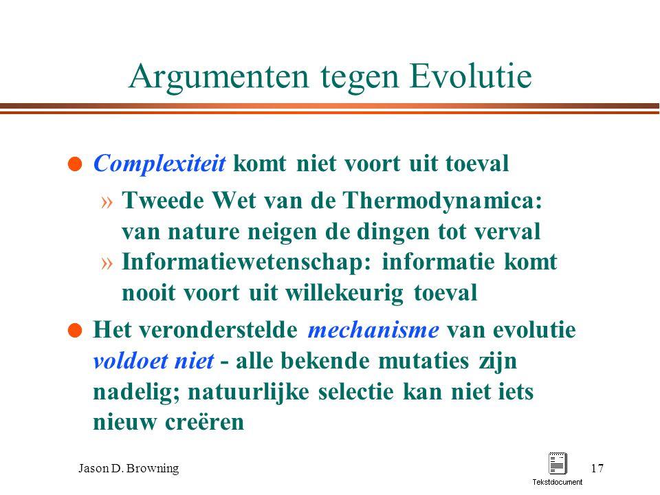 Argumenten tegen Evolutie