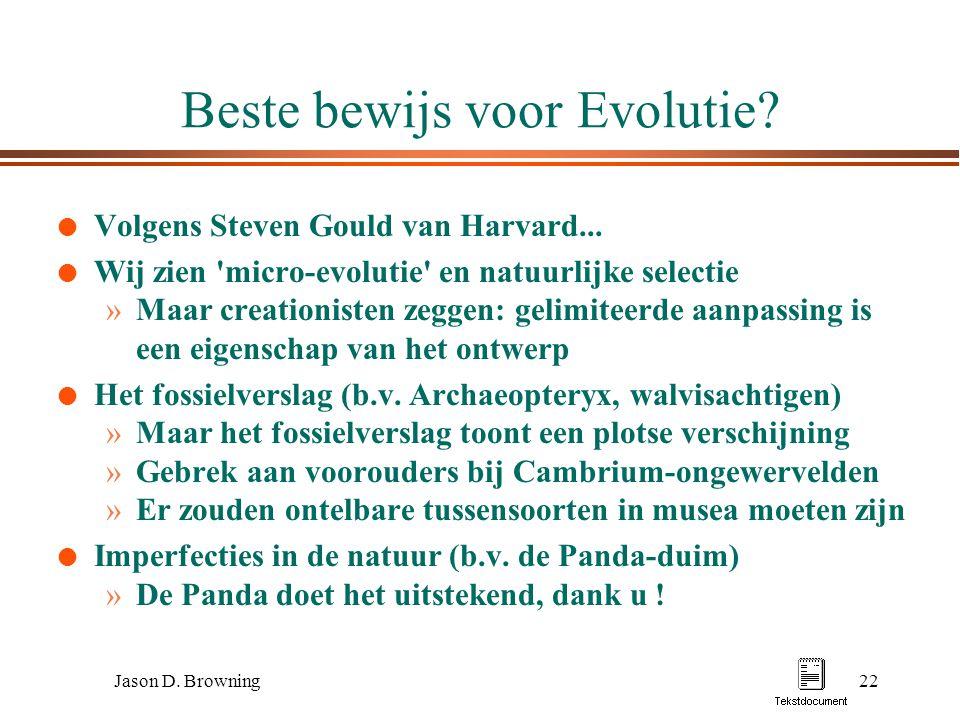 Beste bewijs voor Evolutie
