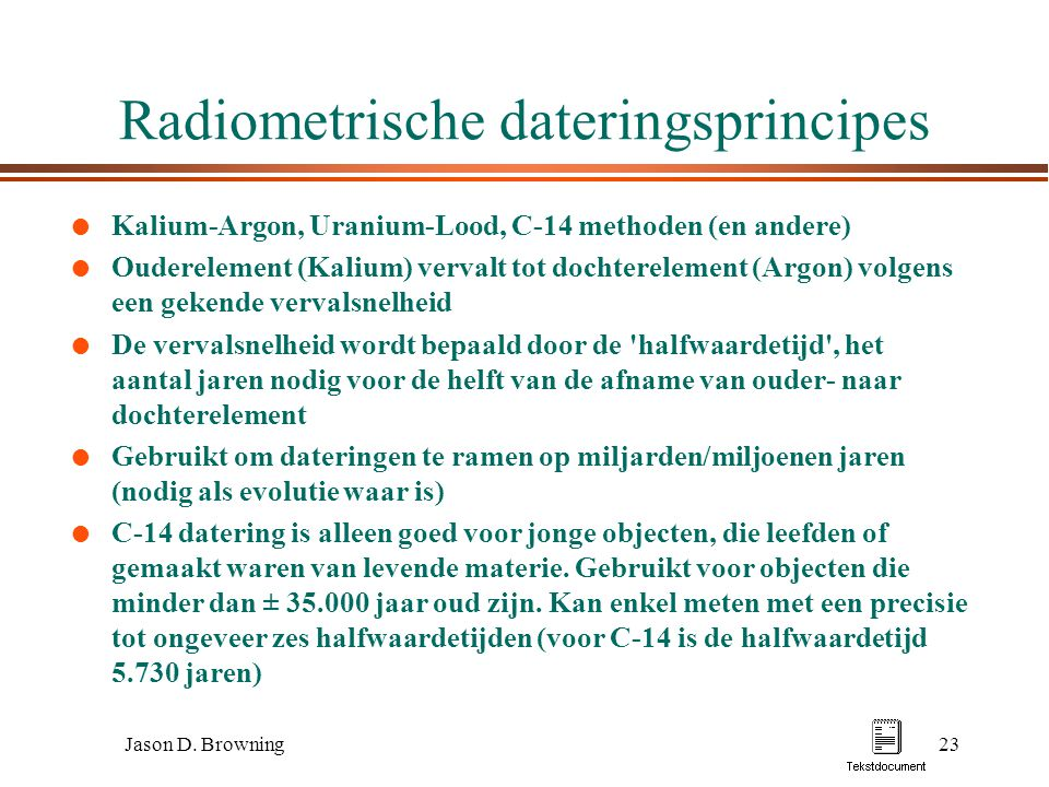 Radiometrische dateringsprincipes