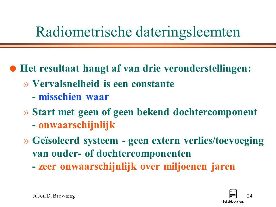 Radiometrische dateringsleemten