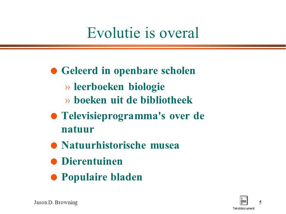 Evolutie is overal Geleerd in openbare scholen leerboeken biologie