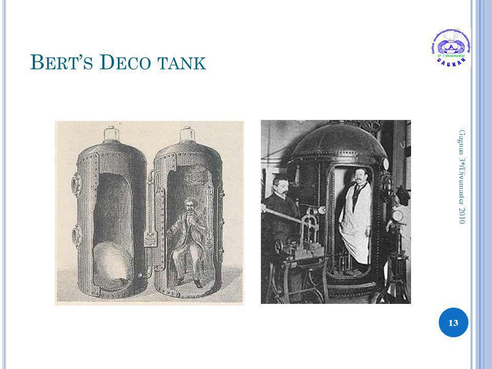 Bert's Deco tank Gagnan 3*/Divemaster 2010