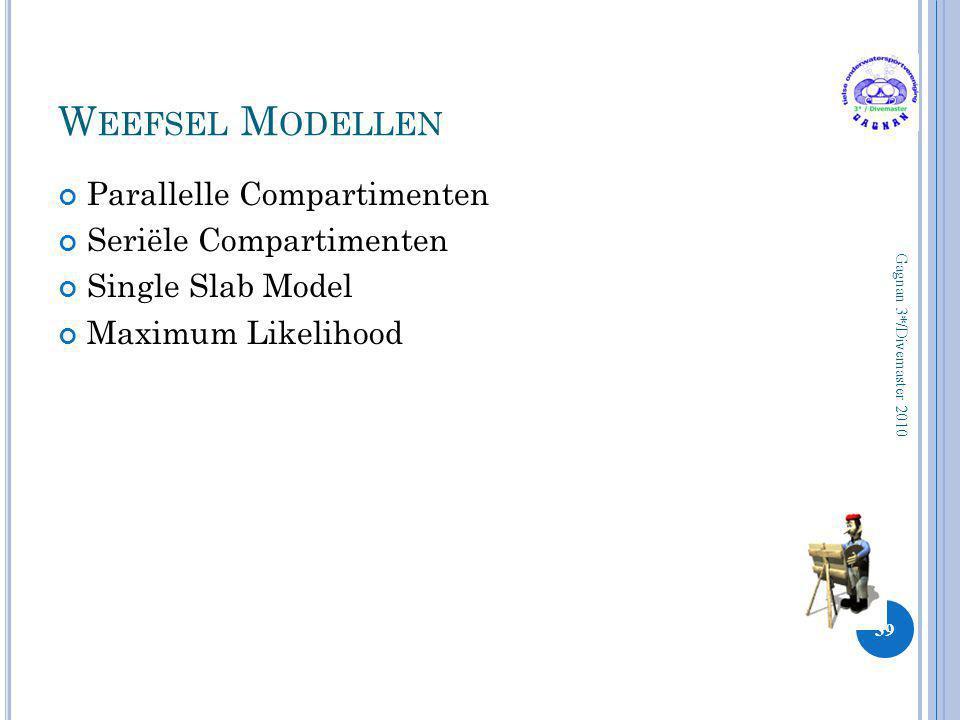 Weefsel Modellen Parallelle Compartimenten Seriële Compartimenten