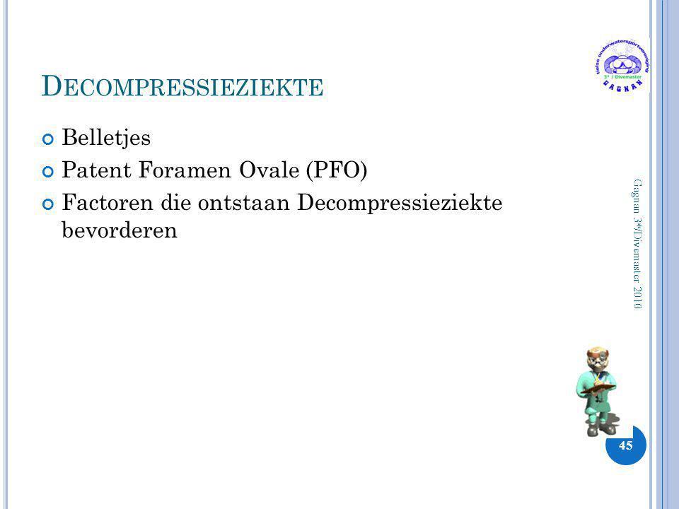 Decompressieziekte Belletjes Patent Foramen Ovale (PFO)